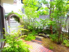 横須賀・葉山・逗子・鎌倉・湘南・川崎・横浜の庭づくりをしている彩葉苑がつくった横須賀市K様邸の植栽工事と造園外構工事の写真です。