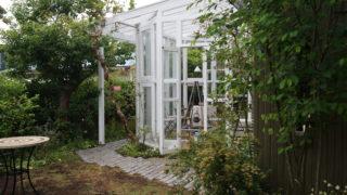 葉山町O様邸の植栽工事と造園外構工事の写真です。コンサバトリー(サンルーム)の写真です。