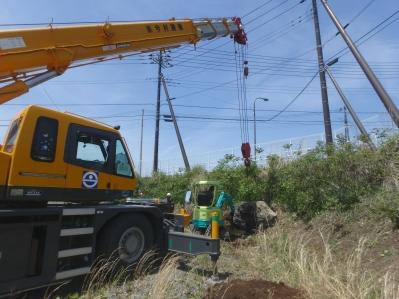 富士市の石積み工事の写真です。