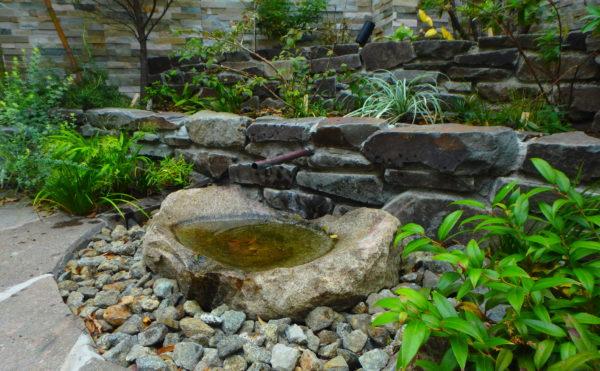 横浜H様邸の植栽工事と造園外構工事の写真です。