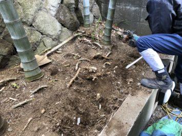 横須賀・葉山・逗子・鎌倉・湘南・川崎・横浜の庭づくりをしている彩葉苑がつくった横浜I様邸の植栽工事と造園外構工事の写真です。竹林の管理の写真です。