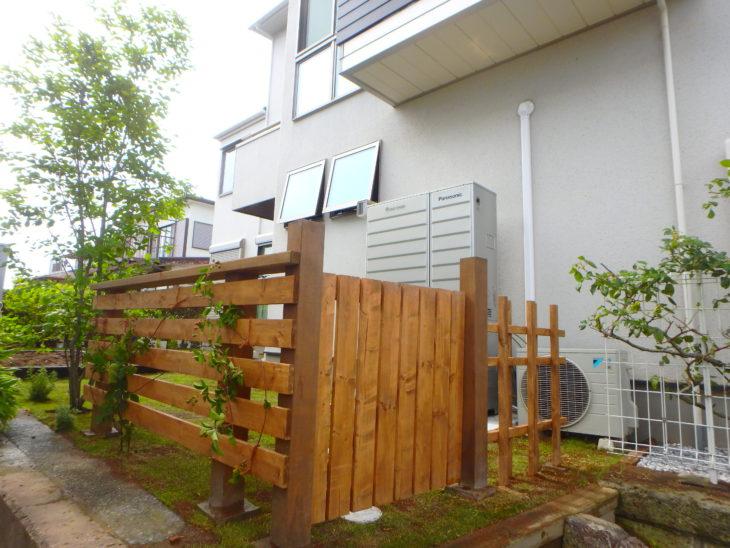 いろは苑が横浜市で作った菜園のある芝庭。